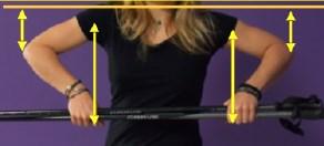 Photo étirement type mouvements des bras vers le haut et le bas