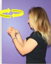 Photo étirement type rotation des articulations des mains