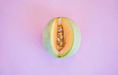 Photo d'un melon ouvert